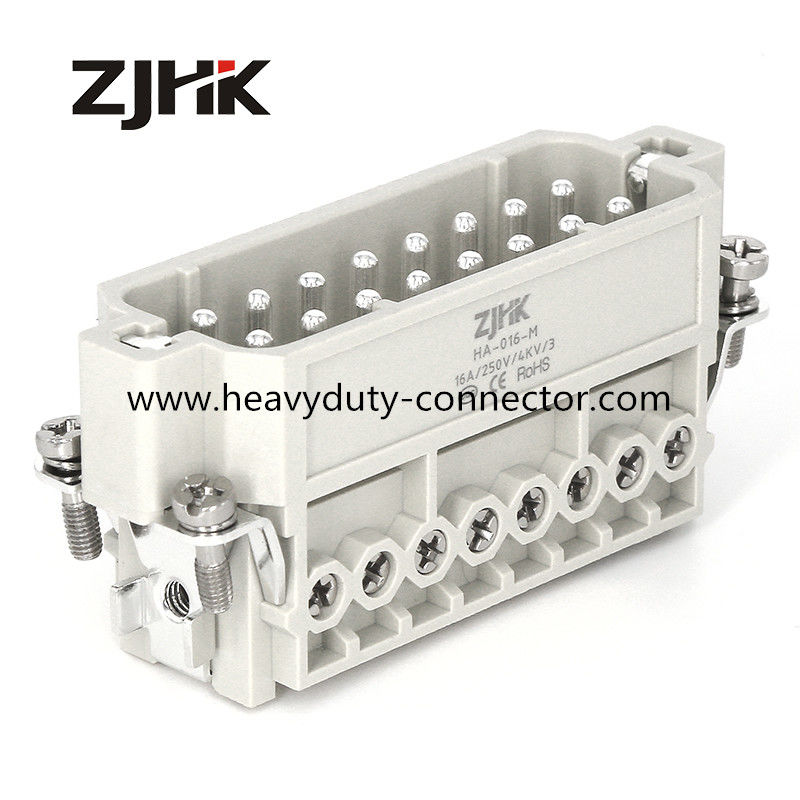 16P Male 16 Amp 240v Heavy Duty Power Connectors 16 Pin Rectangular Connector